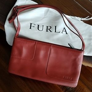 Furla Italian Soft Leather Shoulder Bag